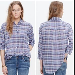 Madewell plaid button down size Medium